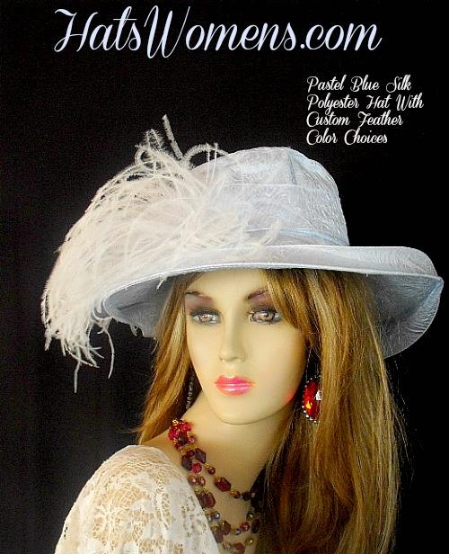 Women s Designer Pastel Baby Blue Or Black Silk Polyester Custom ... 24707658339