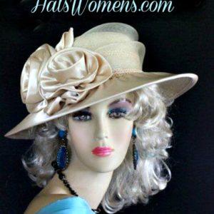 465b1c6e71c6d Pink Satin Bridal Designer Hat Available In Colors