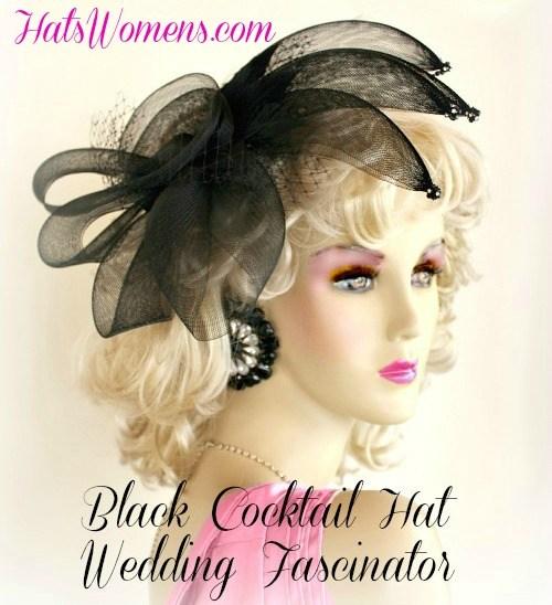 e06924247c4ab Women s Designer Black Wedding Fascinator Alligator Hair Clip ...