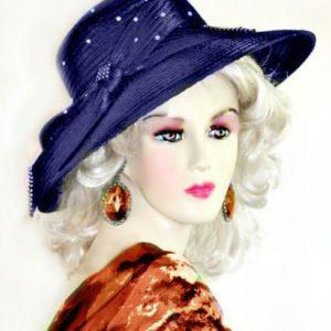 e23d66e21c89c Women s Magenta Fuchsia Pink Satin Wedding Church Formal Hat Designer Hats