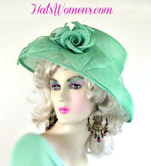 Sea Foam Lime Green Sinamay Straw Wide Brim Hat Women s . ffb1396dd278