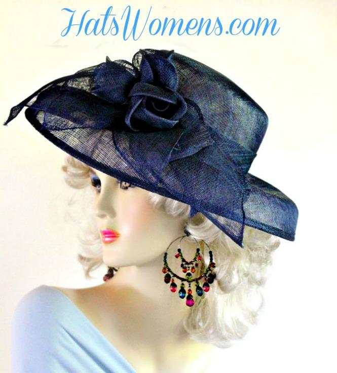 Ivory Sinamay Straw Wide Brim Wedding Hat Women S Designer
