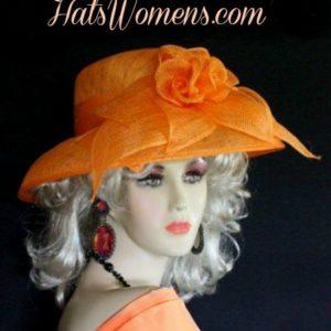 Burgundy Sinamay Straw Kentucky Derby Designer Hat Women s Dress Hats f64e6630427a