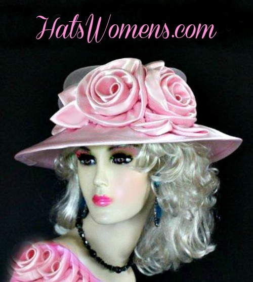 3bb07be6c6c Pink Satin Bridal Designer Hat Available In Colors