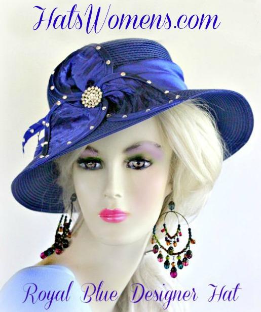 Royal Blue Black Red Brown Ivory Designer Hat Women s Wedding Hats ... b180d7c9fe99