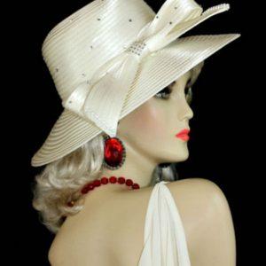 Women s Magenta Fuchsia Pink Satin Wedding Church Formal Hat Designer Hats 0cc203b96c7
