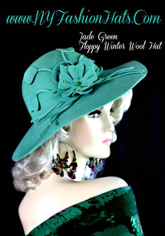 Winter Wool Fashion Hat For Women Jade Green Purple Violet Brown ... 73cf3937f77