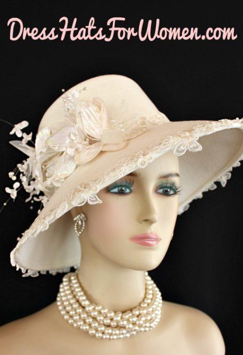 cfbcbf2a2d958 Custom Designer Hats With Flowers Roses – Dress Hats For Women